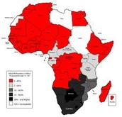 Africa AIDS Map