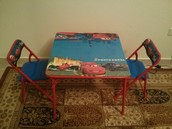80 QR Racing McQueen Table Set
