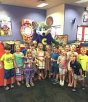 Our groups at Chuck E Cheese!