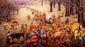 The Cherokees during the Trail of Tears