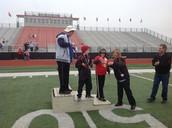 Spencer gets his medal!