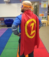 Visit from Zero the Hero on the 100th Day of School