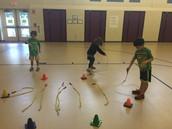 Making hoops!