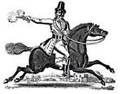 a cartoon picture of the highwayman