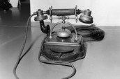 Example of the first telephones