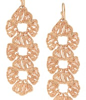 Geneve Linear Earrings - Rose Gold