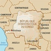Un photo de location du Congo sur la carte.