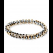 Vintage Twist bracelet (black & gold) $20