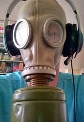 Find out why this person needs a gas mask and headphones!