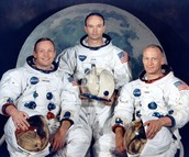 Neil Armstrong, Micheal Collins and Buzz Aldrin