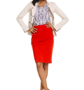Charlie Jacket, Overlay Pencil Skirt