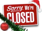 We Are Closed For The Month Of December!