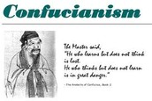 Chart about Confucianism