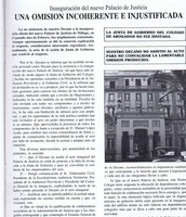 Una polémica invitación a la inauguración del Palacio de Justicia Miramar
