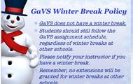 Winter Break Policy