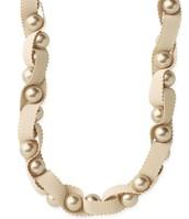 Olivia Pearl & Ribbon Necklace