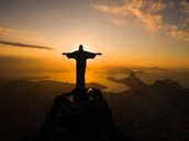 A silhouette picture of Christ The Redeemer