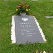 Roald Dahl grave stone