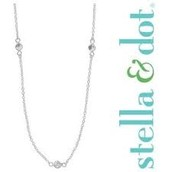 Eternity Silver CZ Necklace $35.00