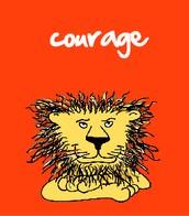 La virtud de caracteres para mayo-Courage