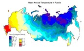 Map of the Temperatures in the Soviet Union.