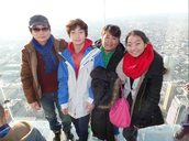 My family on the Willis tower