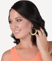 Circle Cutout Dangle Earrings
