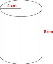 Volume of a Cylinder Example