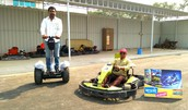 Enjoy Freego on Go-karting track