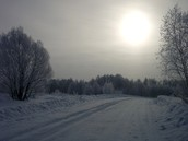 Russian winter . Everything except for the Sun freeses.