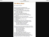 """The poem""""The Weary Blues"""""""
