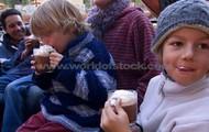 Just enjoy warmness of hot chocolate