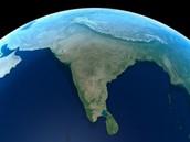 Sattelite View of India
