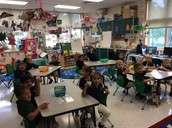 Eating our delicious apple sauce!