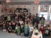 Santa Visits Hill Elementary