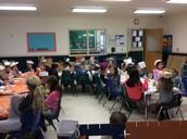 B&A, Kindergarten and PK2 enjoying their feast.
