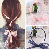 Women Headbands Pearl Lace Hair Accessories