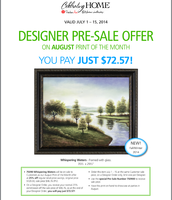 August Pre-Sale Print Ends Tuesday, July 15th