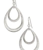 SOLD - Larkin Teardrop Earrings - Silver