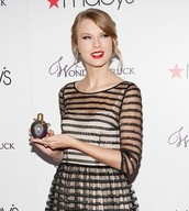 Taylor Swift Holding Her Wonder Struck Perfume!