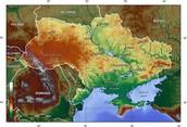 Physical Map of Ukraine
