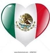 Heart shaped Mexico flag