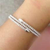 SOLD Radiance Coil Bracelet Silver