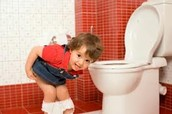 Parental supervision for Potty Training