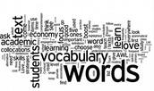 vocabulary ;