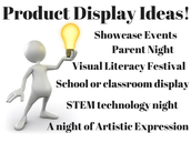 Ideas for displaying student work