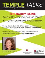 TempleTalks: The Baudy Bard