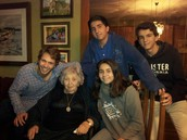 My grandmother, cousin, siblings and I