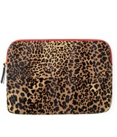 Laptop Case in Leopard