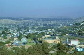 View of the city of Kabul